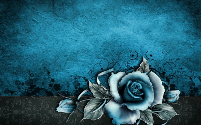 Vintage Rose Abstract Blue wallpapers and stock photos