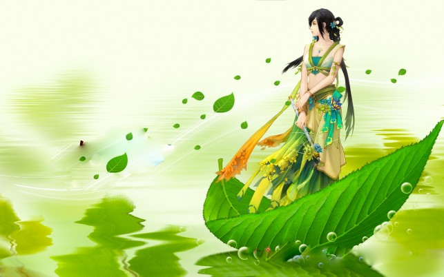 Asian Water Leaf Boat wallpapers and stock photos