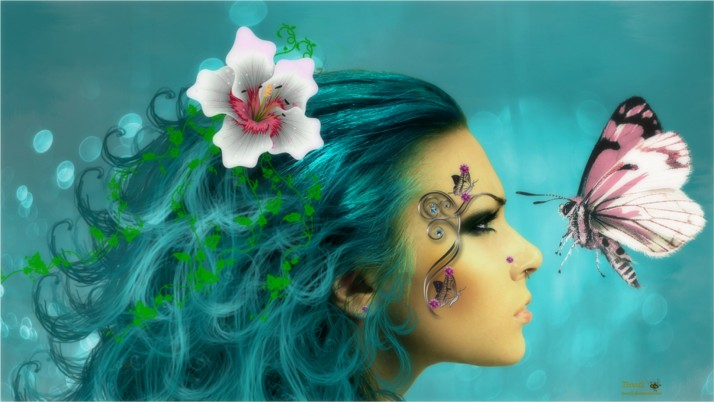 Woman Blossom Tattoo Butterfly wallpapers and stock photos