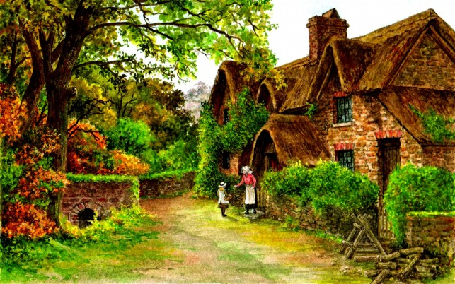 Rural Cottage wallpapers and stock photos