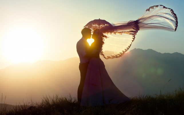 Couple Romance Bright Sunshine wallpapers and stock photos