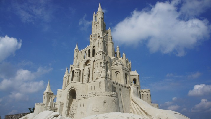 Fantastic Sand Castle wallpapers and stock photos