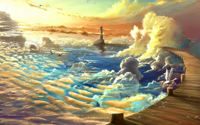 Heavenly Ocean wallpapers and stock photos