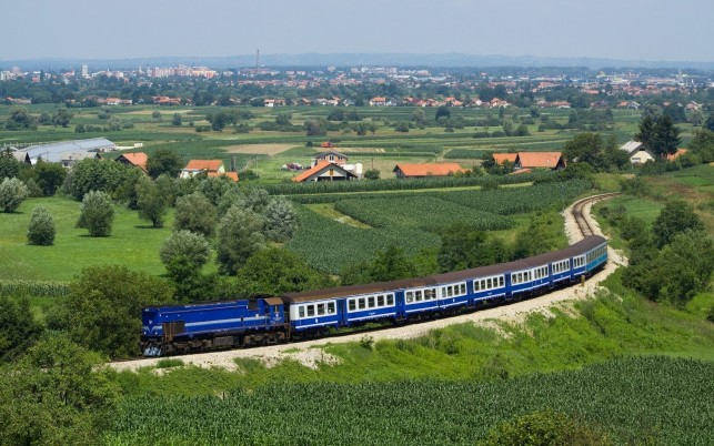 Gorgeous Village & Blue Train wallpapers and stock photos