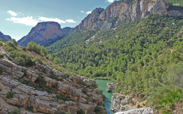Gorge Of The Gaitanes Spain wallpapers and stock photos