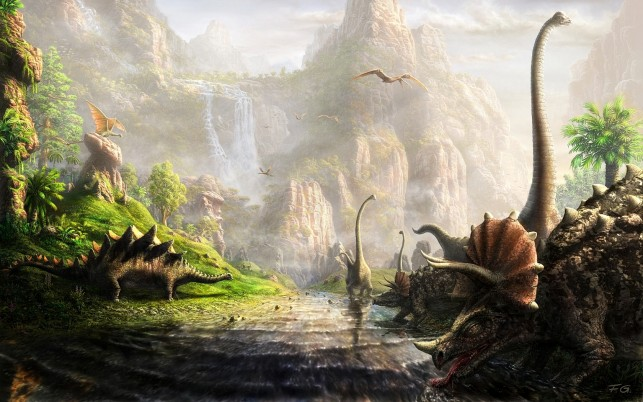 The Land Of Dinosaurs wallpapers and stock photos