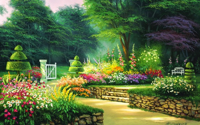 Topiary Garden wallpapers and stock photos
