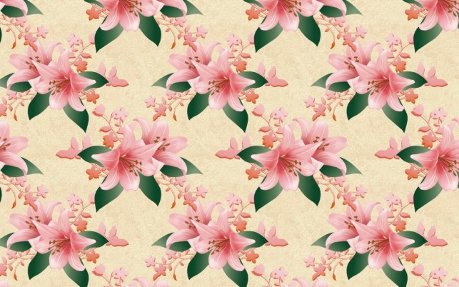 Pink Lily Pattern wallpapers and stock photos