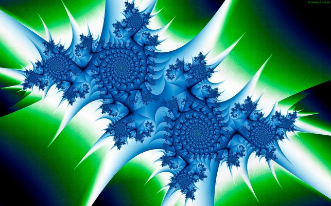 Blue Fractal Twins wallpapers and stock photos