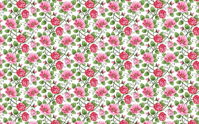 Bright Pink Roses Pattern wallpapers and stock photos