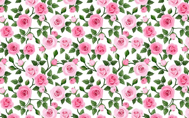 Soft Pink Roses Pattern wallpapers and stock photos