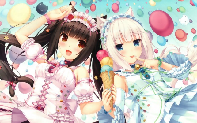 Chocolat & Vanilla Three wallpapers and stock photos