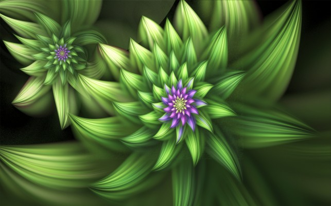 Green Blooms wallpapers and stock photos