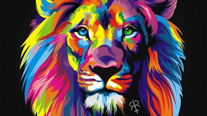 Rainbow Lion wallpapers and stock photos