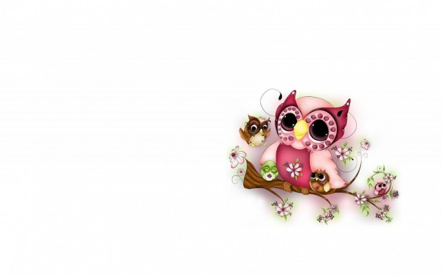 Proud Owl & Kids wallpapers and stock photos