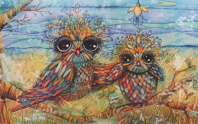Abstract Owls Mother & Child wallpapers and stock photos