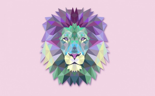 Calico Geometric Lion wallpapers and stock photos