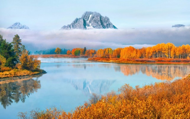Excellent Autumn Grand Teton wallpapers and stock photos