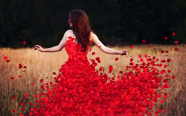 Rose Petals Dress wallpapers and stock photos