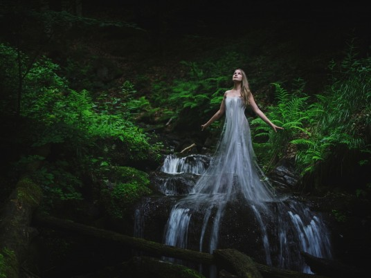 Waterfall Dress wallpapers and stock photos