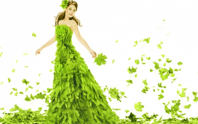 Leaves Dress wallpapers and stock photos