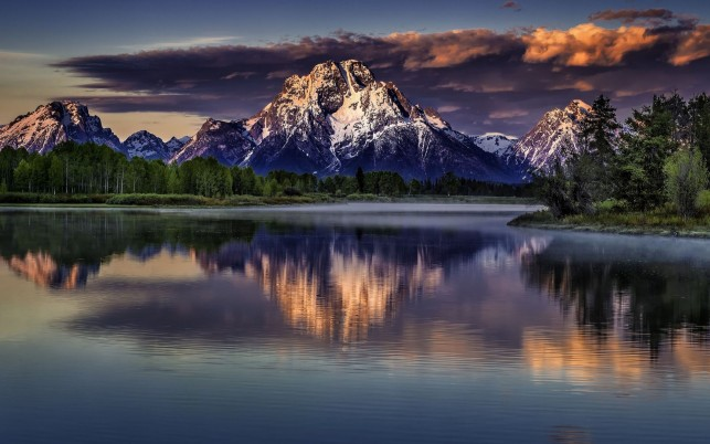 Grand Teton Wyoming Stormy wallpapers and stock photos