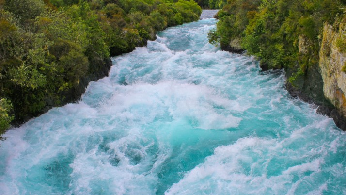 Wild Turquoise River & Trees wallpapers and stock photos