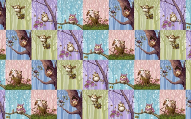 Owls Pattern wallpapers and stock photos