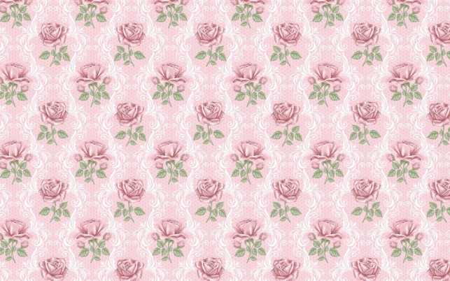 Delicate Pink Roses Pattern wallpapers and stock photos