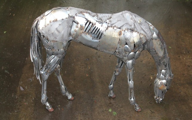 Scrap Metal Horse wallpapers and stock photos