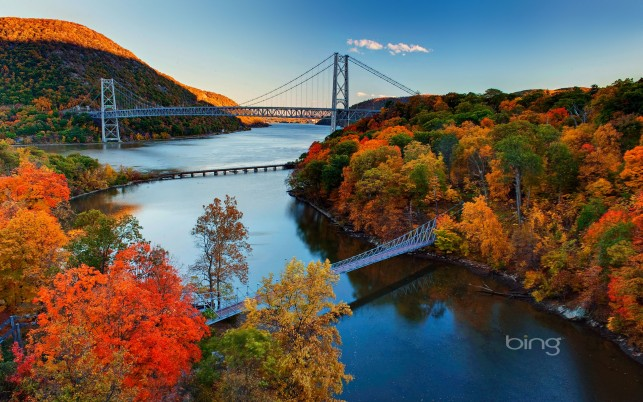 Hudson River Valley Autumn wallpapers and stock photos