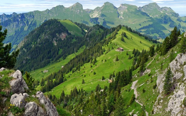 Gastlosen Mountains Swiss wallpapers and stock photos