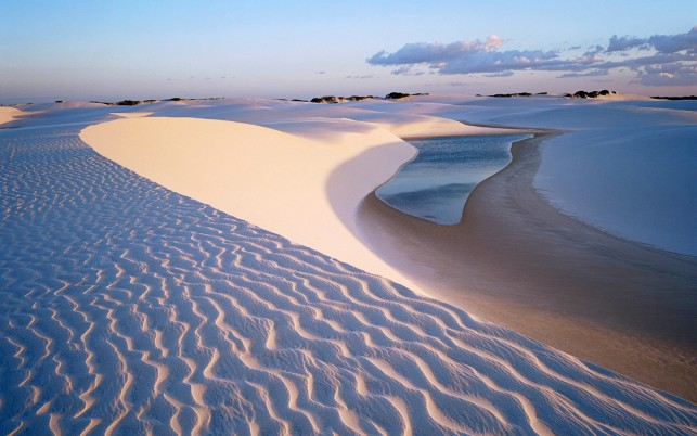 Beautiful White Desert & Oasis wallpapers and stock photos