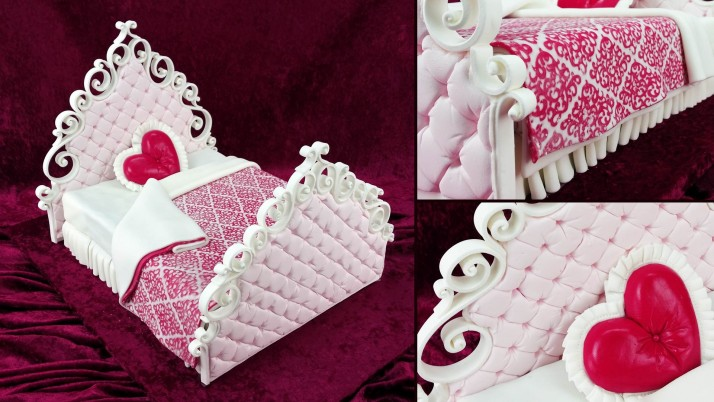Valentines Bed Cake wallpapers and stock photos