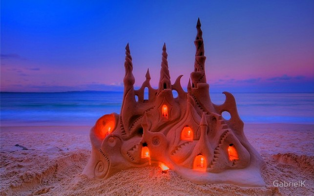Sand Castle Three wallpapers and stock photos
