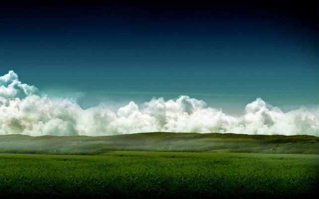 Splendid Green Hills Clouds wallpapers and stock photos