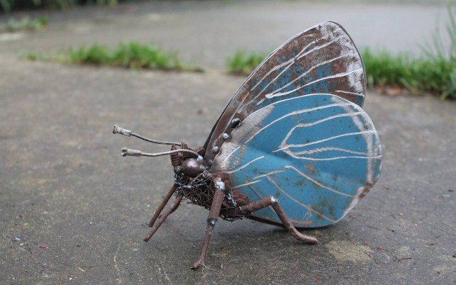 Scrap Metal Butterfly wallpapers and stock photos