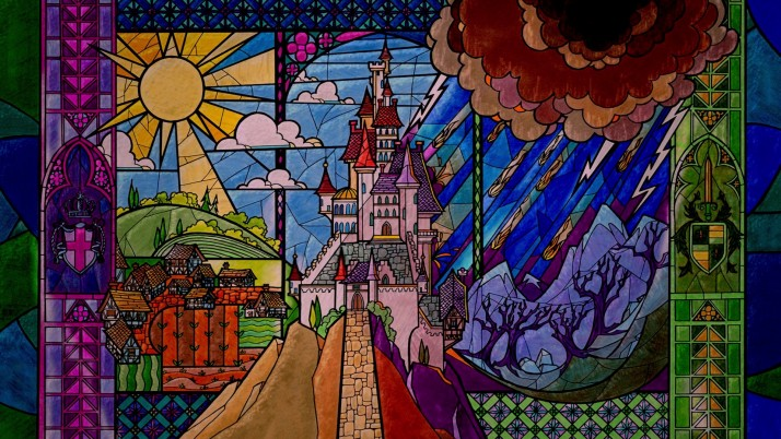 Stained Glass Castle & Scenery wallpapers and stock photos