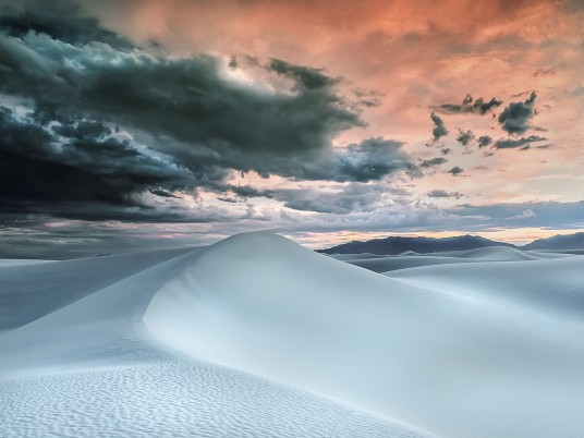 White Desert Stormy Red Sky wallpapers and stock photos