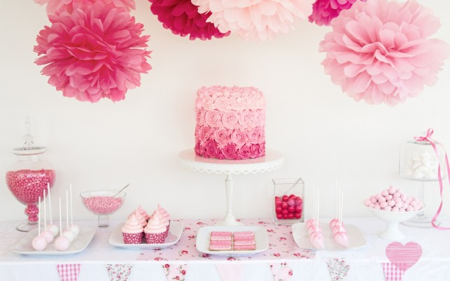 Pink Sweets & Flowers wallpapers and stock photos