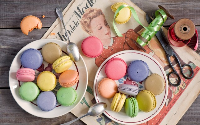 Colorful Macarons wallpapers and stock photos
