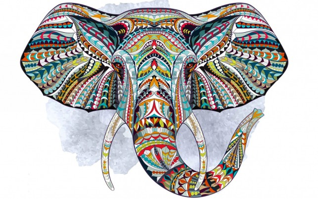 Ethnic Elephant wallpapers and stock photos