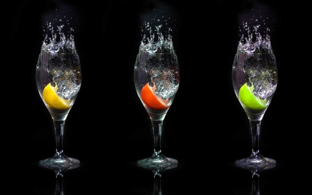 Water Fruit Slices Glasses wallpapers and stock photos