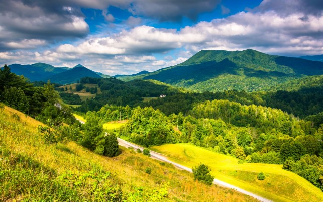 Appalachian Mountains Sunny wallpapers and stock photos