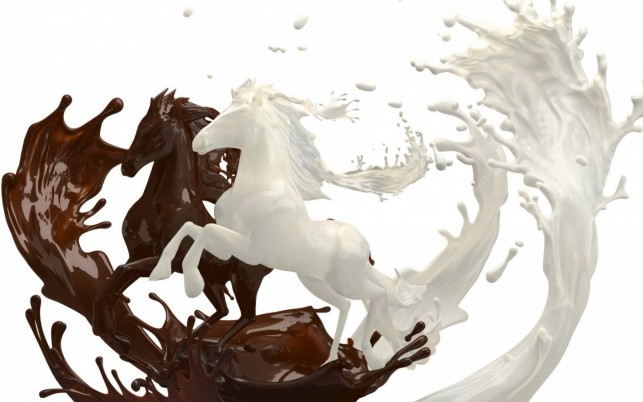 Chocolate & Milk Horses wallpapers and stock photos