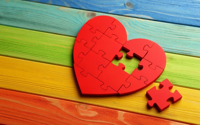 Puzzle Heart wallpapers and stock photos