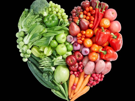 Vegetable & Fruit Heart wallpapers and stock photos