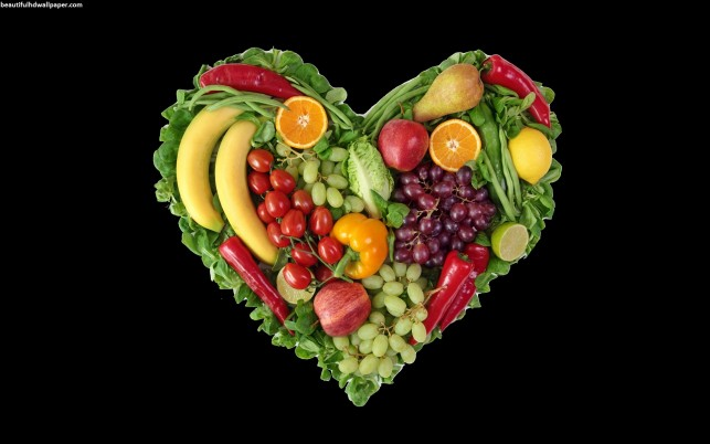 Fruit & Vegetable Heart wallpapers and stock photos