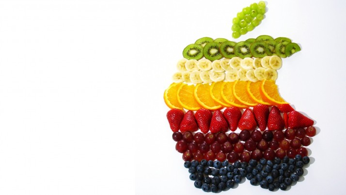 Apple Fruits Logo wallpapers and stock photos