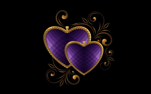 Luxury Hearts Purple wallpapers and stock photos